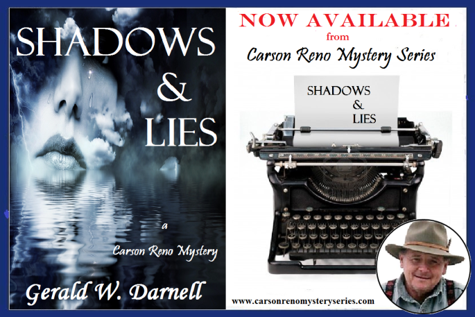 Ger shadow and lies with typewriter