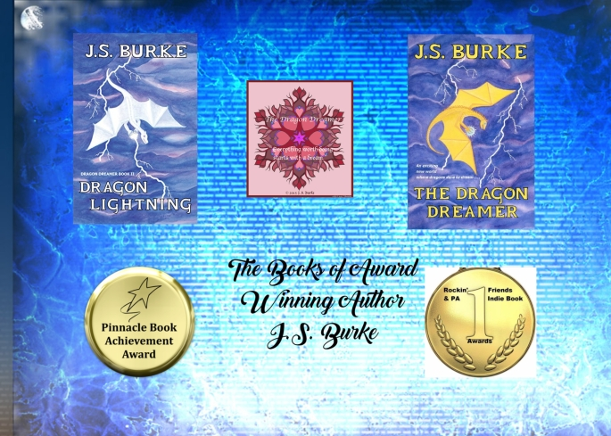 JS and 2 books and awards