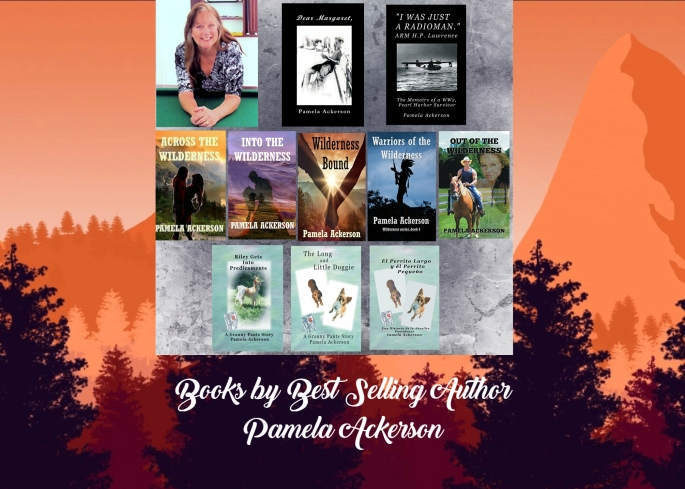 Pam her books collage
